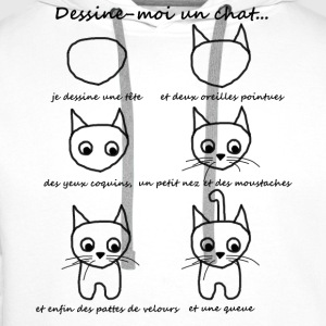 T-shirt enfant - dessine un chat - Sweat-shirt à capuche Premium pour hommes