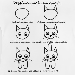 T-shirt enfant - dessine un chat - T-shirt Bébé