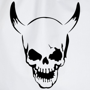 Skull with horns  T-Shirts - Drawstring Bag