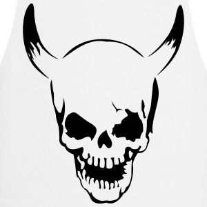 Skull with horns  T-Shirts - Cooking Apron
