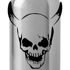 Skull with horns  T-Shirts - Water Bottle