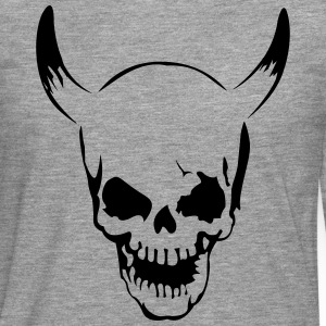 Skull with horns  T-Shirts - Men's Premium Longsleeve Shirt