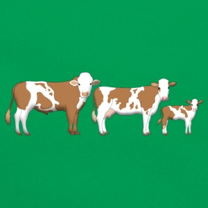 cowfamily 2 T-shirts - Retro-tas