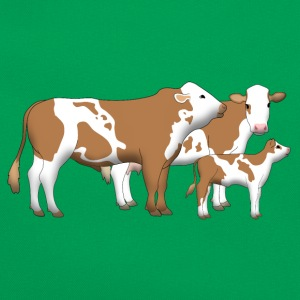 cowfamily 1 Tee shirts - Sac Retro