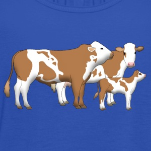 cowfamily 1 T-Shirts - Women's Tank Top by Bella