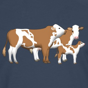 cowfamily 1 Tee shirts - T-shirt manches longues Premium Homme