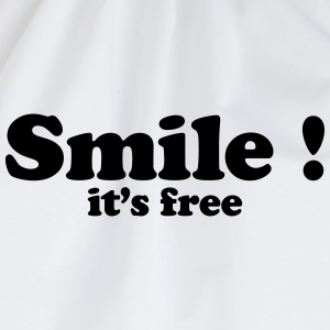 smile it's free T-shirts - Gymtas