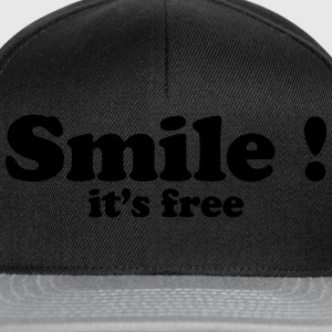 smile it's free Sweaters - Snapback cap