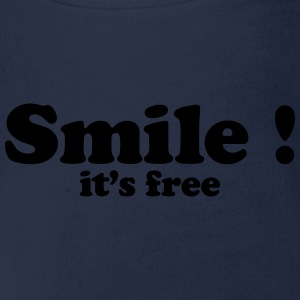smile it's free Shirts - Organic Short-sleeved Baby Bodysuit