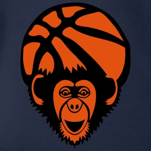 basket singe monkey chimpanze basketball Tee shirts - Body bébé bio manches courtes