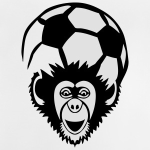 foot singe monkey chimpanze ballon Tee shirts - T-shirt Bébé