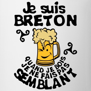 breton biere smiley bois alcool semblant Sweat-shirts - Tasse