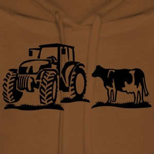 cow and tractor Shirts - Women's Premium Hoodie