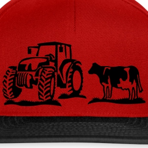 cow and tractor Shirts - Snapback Cap