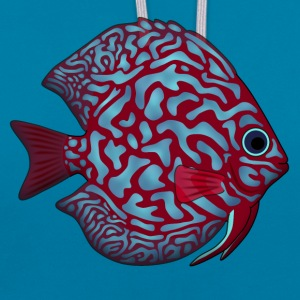 discus fish 1 Bags & backpacks - Contrast Colour Hoodie