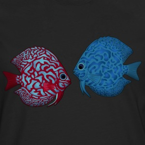 discus fish 2 Tee shirts - T-shirt manches longues Premium Homme