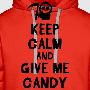 Keep cam and give me candy Koszulki - Bluza męska Premium z kapturem