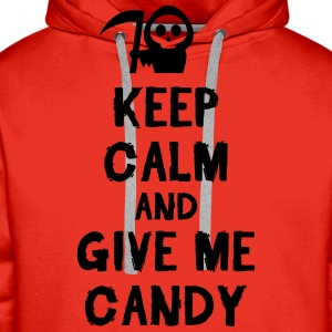 Keep cam and give me candy Tee shirts - Sweat-shirt à capuche Premium pour hommes