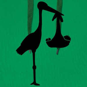 Stork And Baby T-Shirts - Men's Premium Hoodie