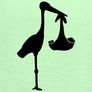 Stork And Baby T-Shirts - Women's Tank Top by Bella