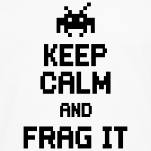 keep calm and frag it Felpe - Maglietta Premium a manica lunga da uomo