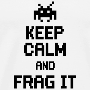 keep calm and frag it Sweatshirts - Herre premium T-shirt