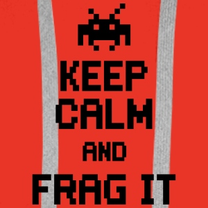 keep calm and frag it Vesker & ryggsekker - Premium hettegenser for menn