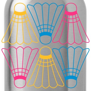 Vector Badminton Pattern Magliette - Borraccia