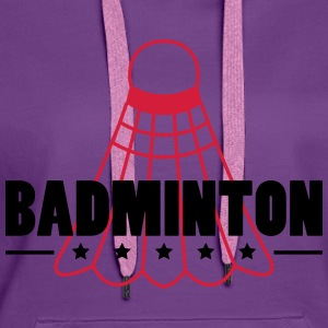 Badminton Icon T-Shirts - Women's Premium Hoodie