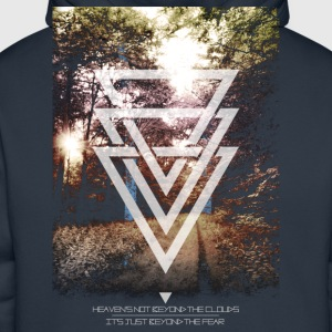 mystic forest triangles Tee shirts - Sweat-shirt à capuche Premium pour hommes