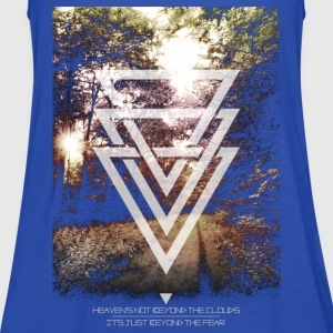 mystic forest triangles T-Shirts - Women's Tank Top by Bella