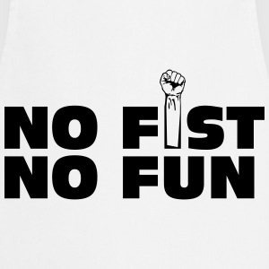 no fist no fun T-shirts - Keukenschort