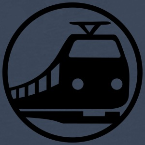 Train Icon T-shirts - Herre premium T-shirt med lange ærmer