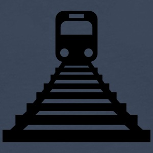Train-Icon T-shirts - Herre premium T-shirt med lange ærmer
