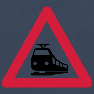 Caution Train T-shirts - Mannen Premium shirt met lange mouwen