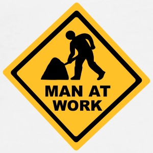 Man at Work - Construction Bottles & Mugs - Men's Premium T-Shirt