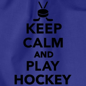 Keep calm and play Hockey T-Shirts - Turnbeutel