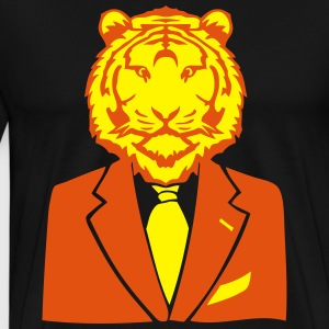 tigre costume cravate business tiger Sweat-shirts - T-shirt Premium Homme