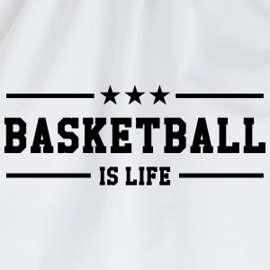 [ Basketball is life ] Shirts - Drawstring Bag