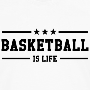 [ Basketball is life ] Skjorter - Premium langermet T-skjorte for menn