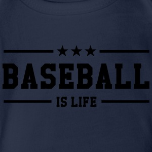 [ Baseball is life ] Shirts - Organic Short-sleeved Baby Bodysuit