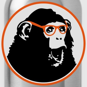 Nerdy Ape with Glasses T-shirts - Drinkfles