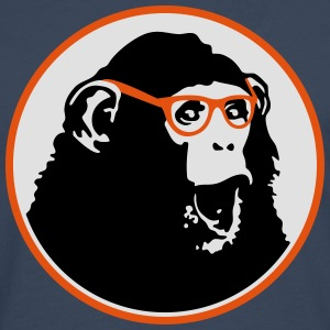 Nerdy Ape with Glasses T-shirts - Långärmad premium-T-shirt herr