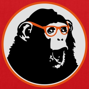 Nerdy Ape with Glasses T-shirts - Tas van stof