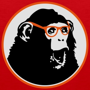 Nerdy Ape with Glasses T-shirts - Mannen Premium tank top