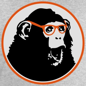 Nerdy Ape with Glasses T-Shirts - Men's Sweatshirt by Stanley & Stella
