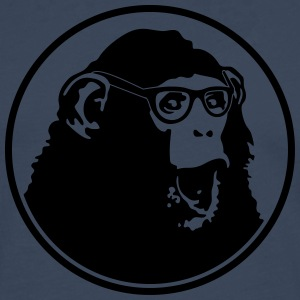 Nerdy Ape with Glasses Tee shirts - T-shirt manches longues Premium Homme