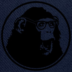 Nerdy Ape with Glasses Tee shirts - Casquette snapback