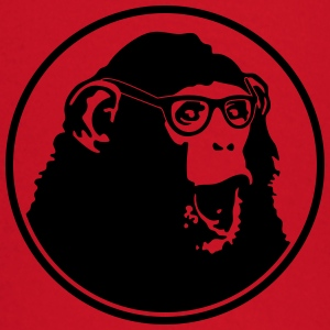 Nerdy Ape with Glasses T-shirts - Långärmad T-shirt baby