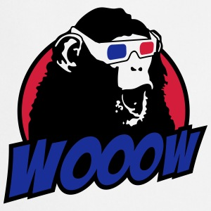 3D Glasses amazed Monkey T-shirts - Förkläde